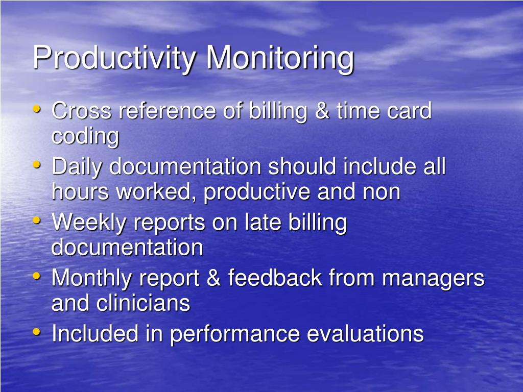 Productivity Monitoring