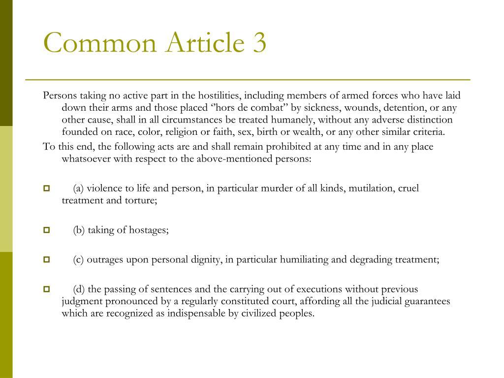 Common Article 3