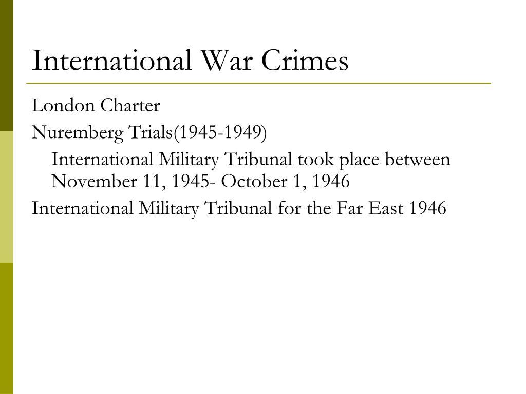 International War Crimes