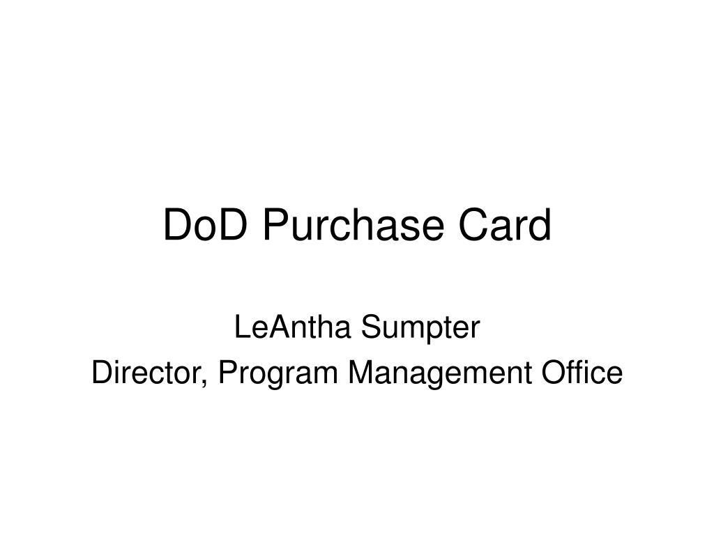 dod purchase card l.