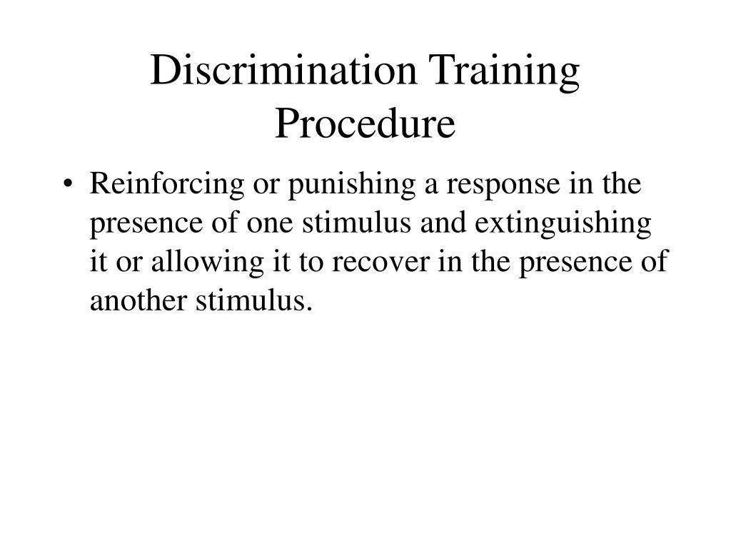 Discrimination Training Procedure