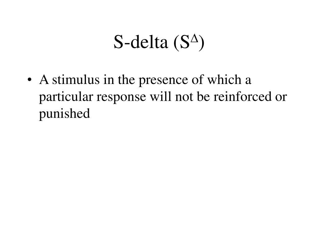 S-delta (S