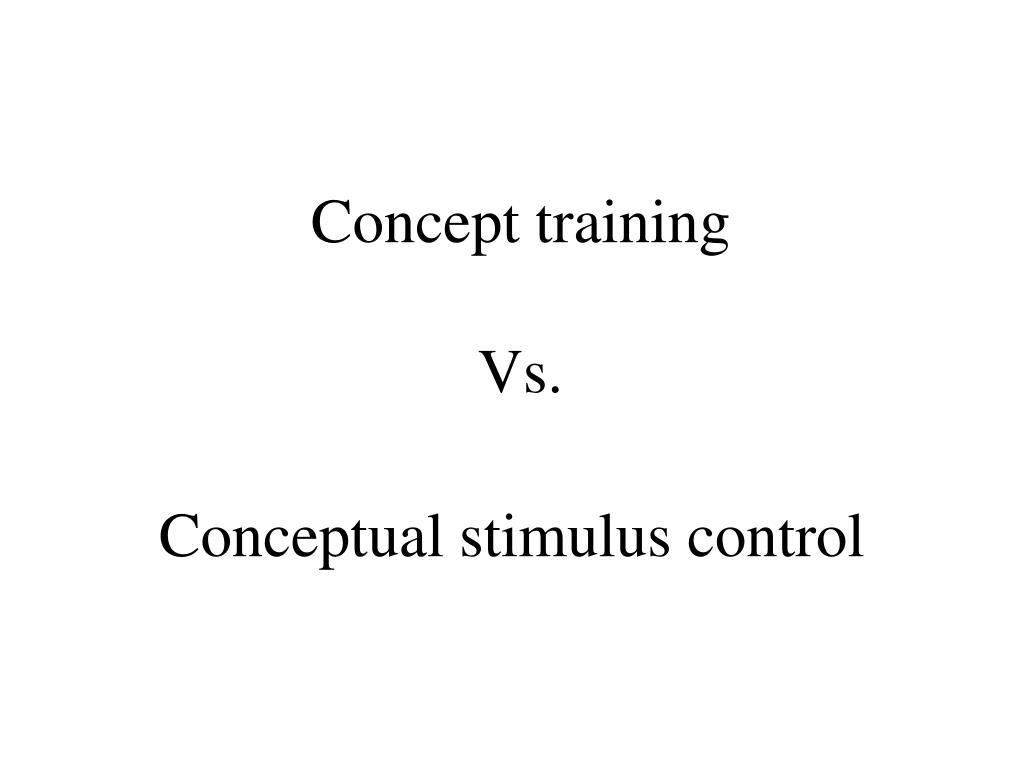 Concept training