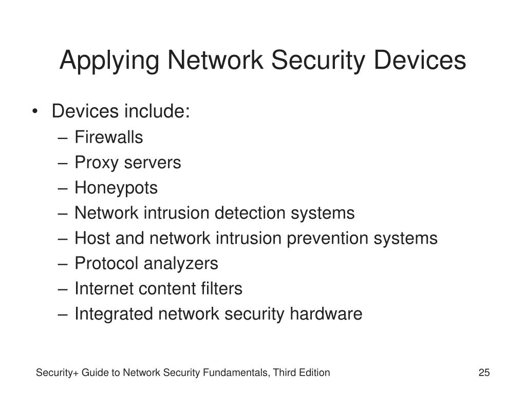 Applying Network Security Devices