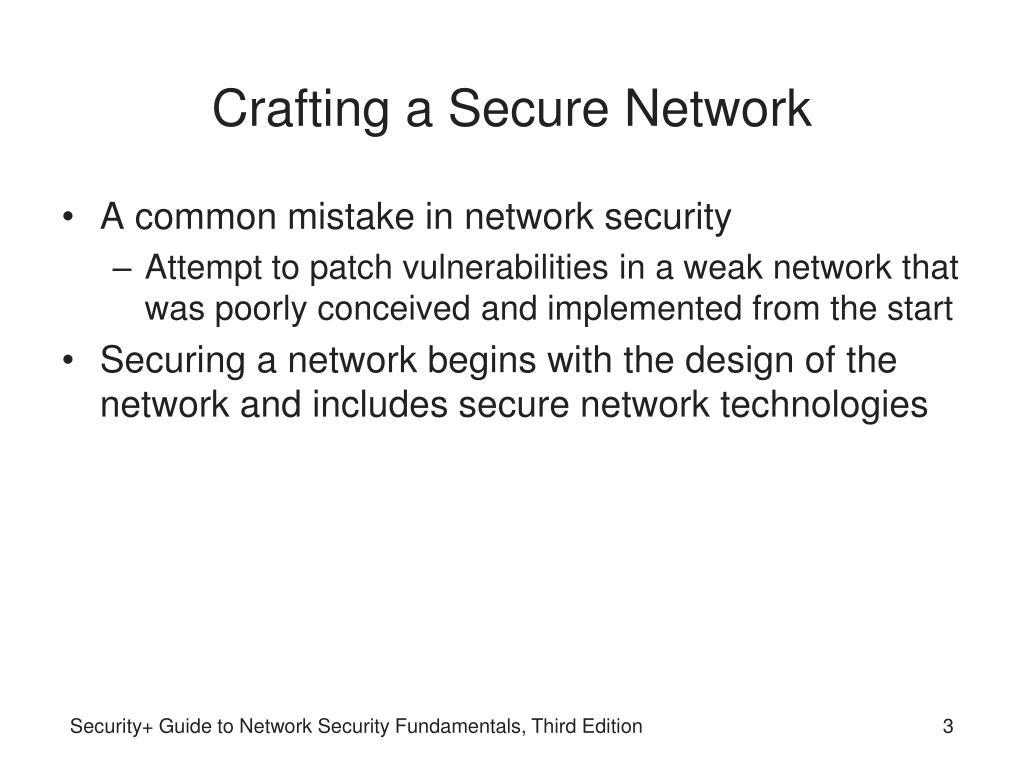 Crafting a Secure Network