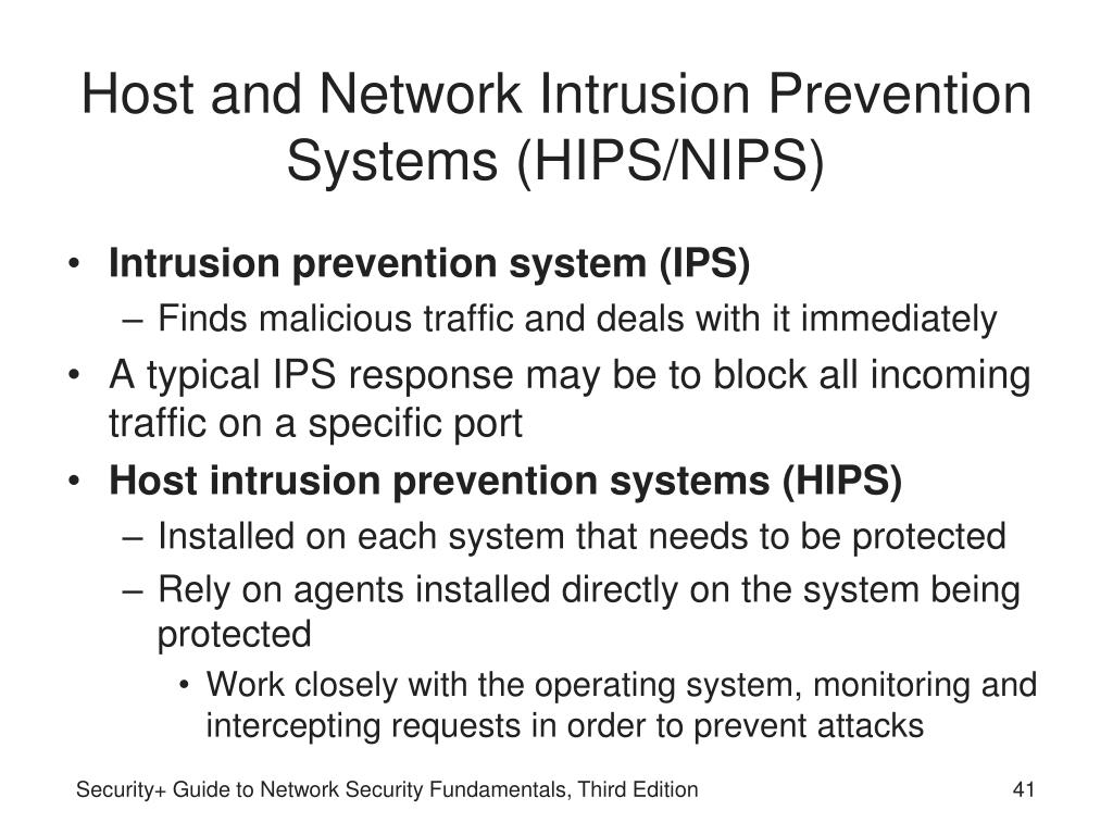 Host and Network Intrusion Prevention Systems (HIPS/NIPS)