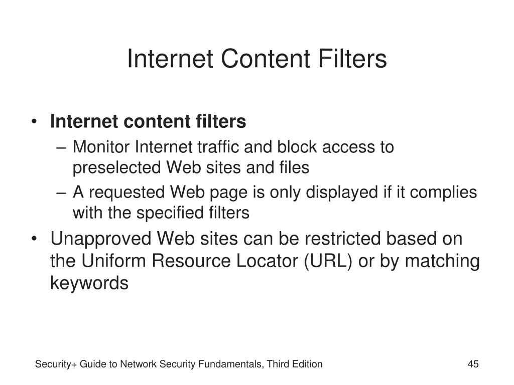 Internet Content Filters