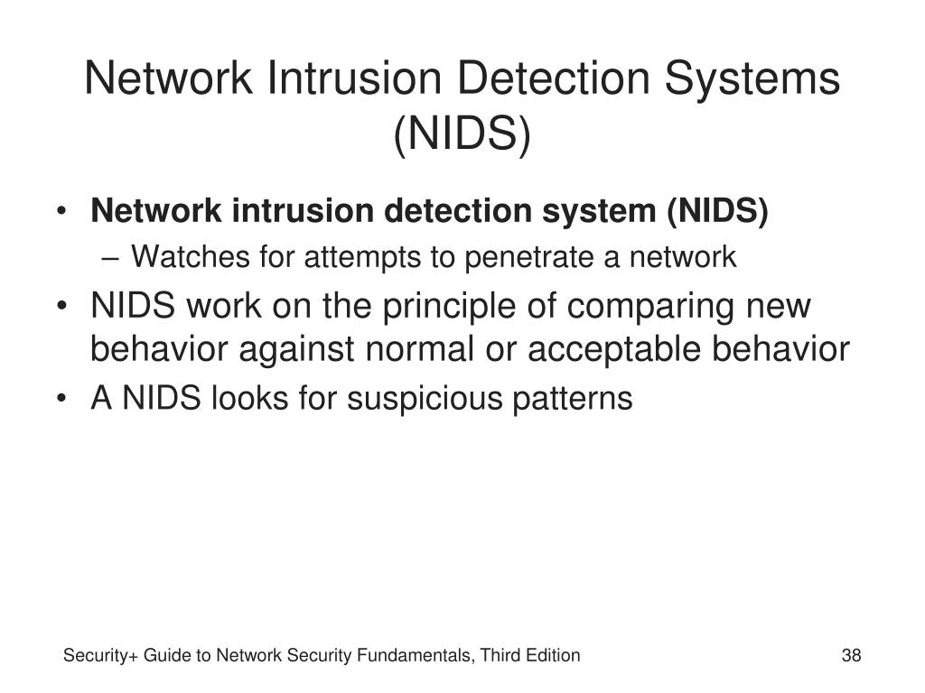 Network Intrusion Detection Systems (NIDS)