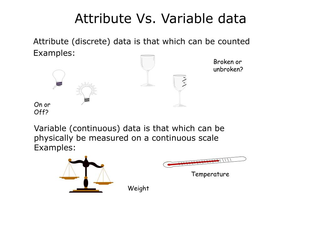 Attribute (discrete) data is that which can be counted