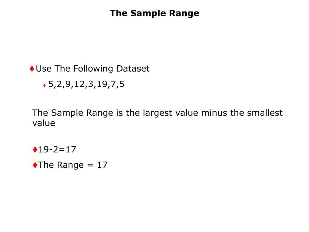 The Sample Range