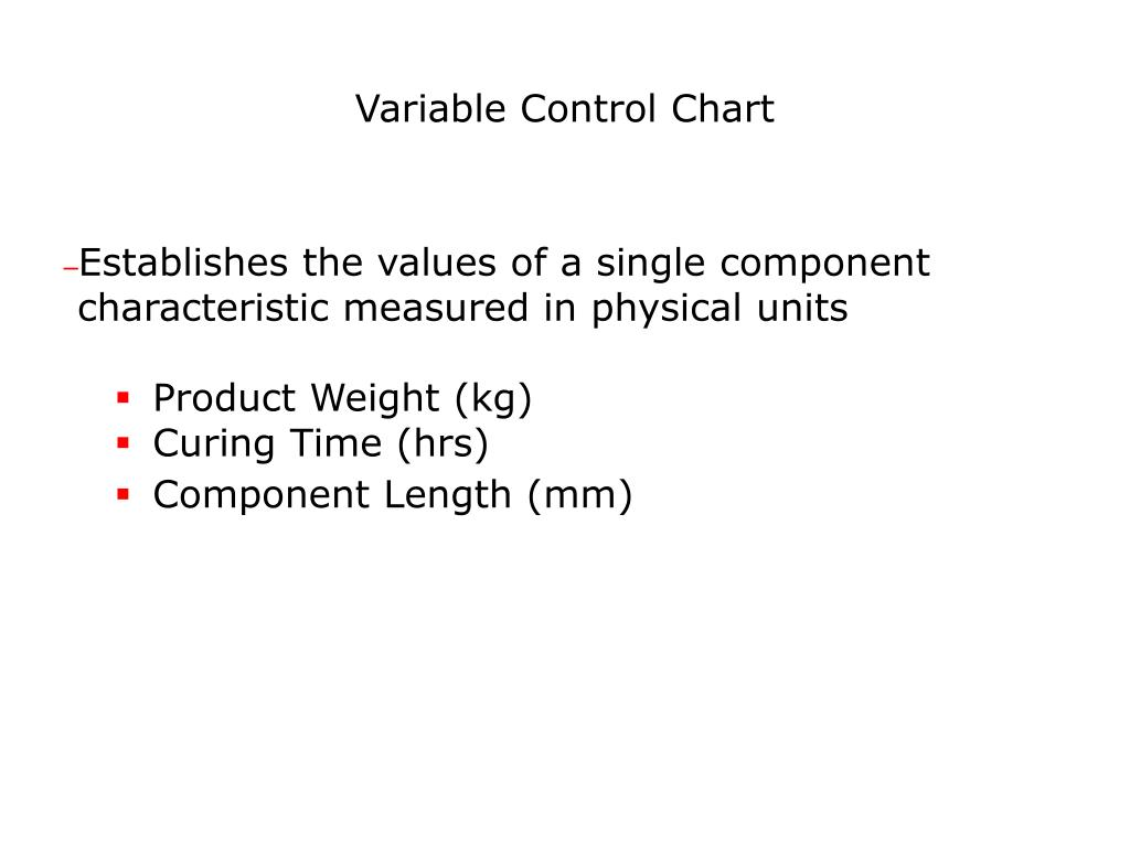 Variable Control Chart