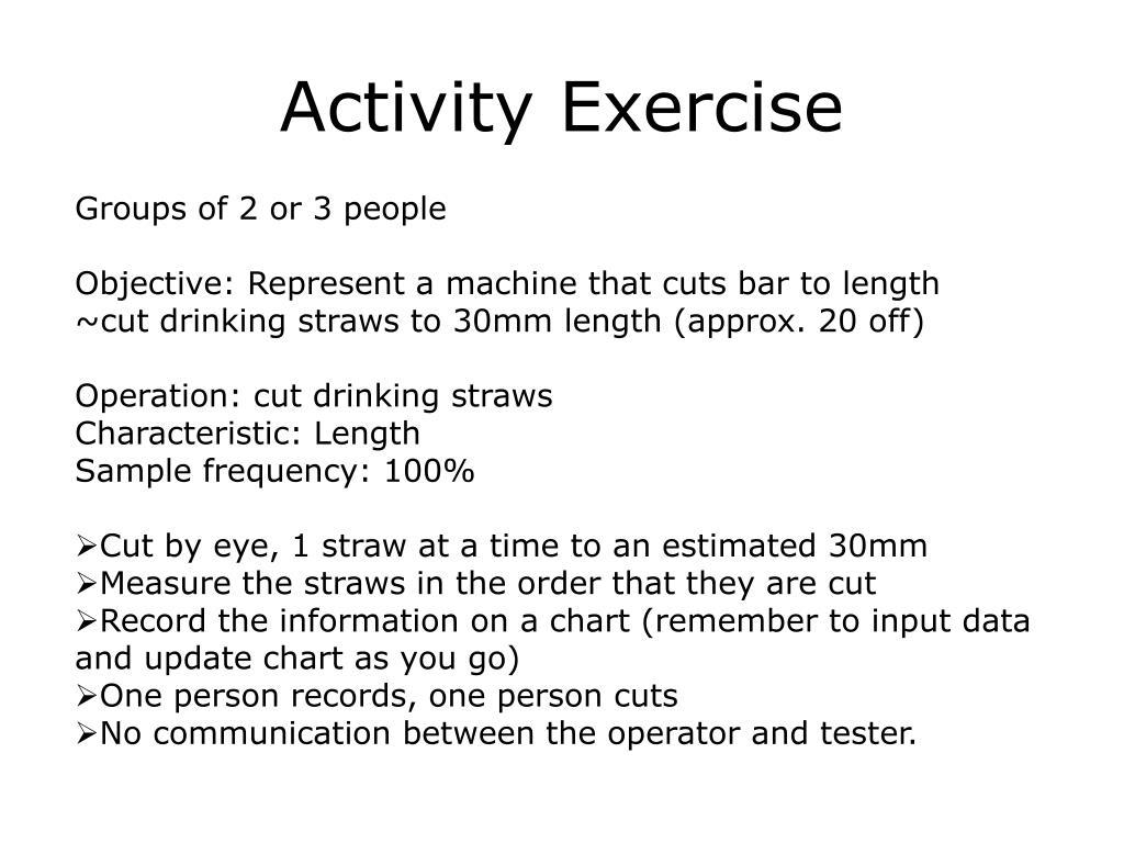 Activity Exercise