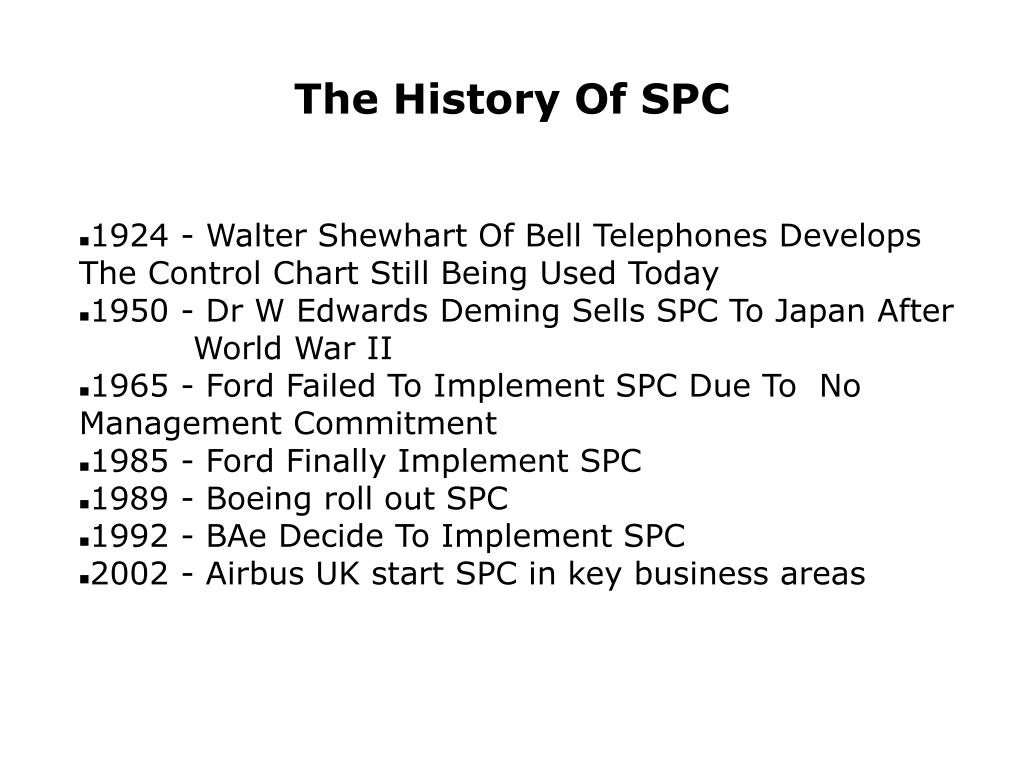 The History Of SPC
