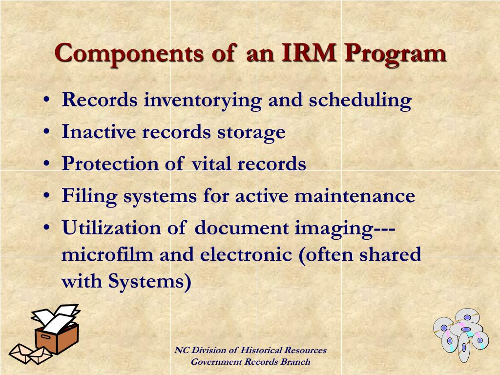 Components of an IRM Program