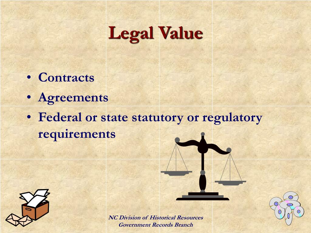 Legal Value