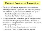 external sources of innovation