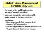 multidivisional organizational structure e g gm
