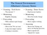 the general environment albertson s grocery stores