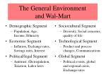 the general environment and wal mart