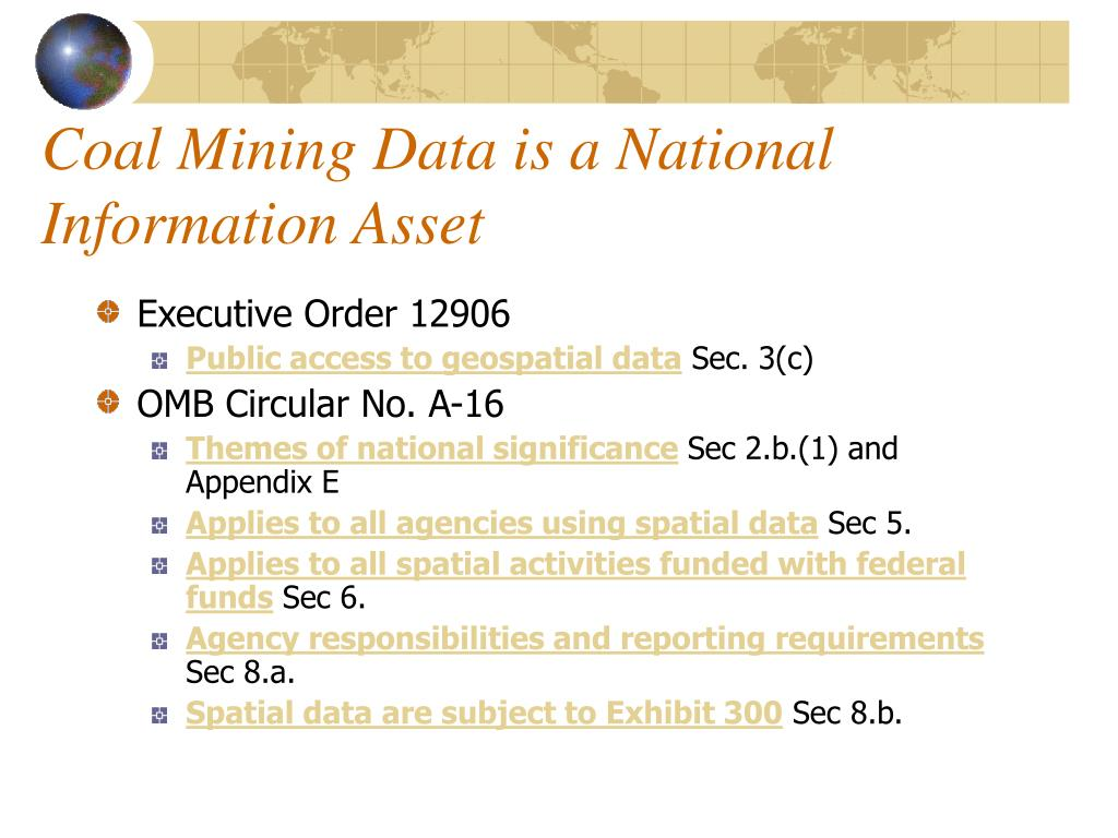 Coal Mining Data is a National Information Asset
