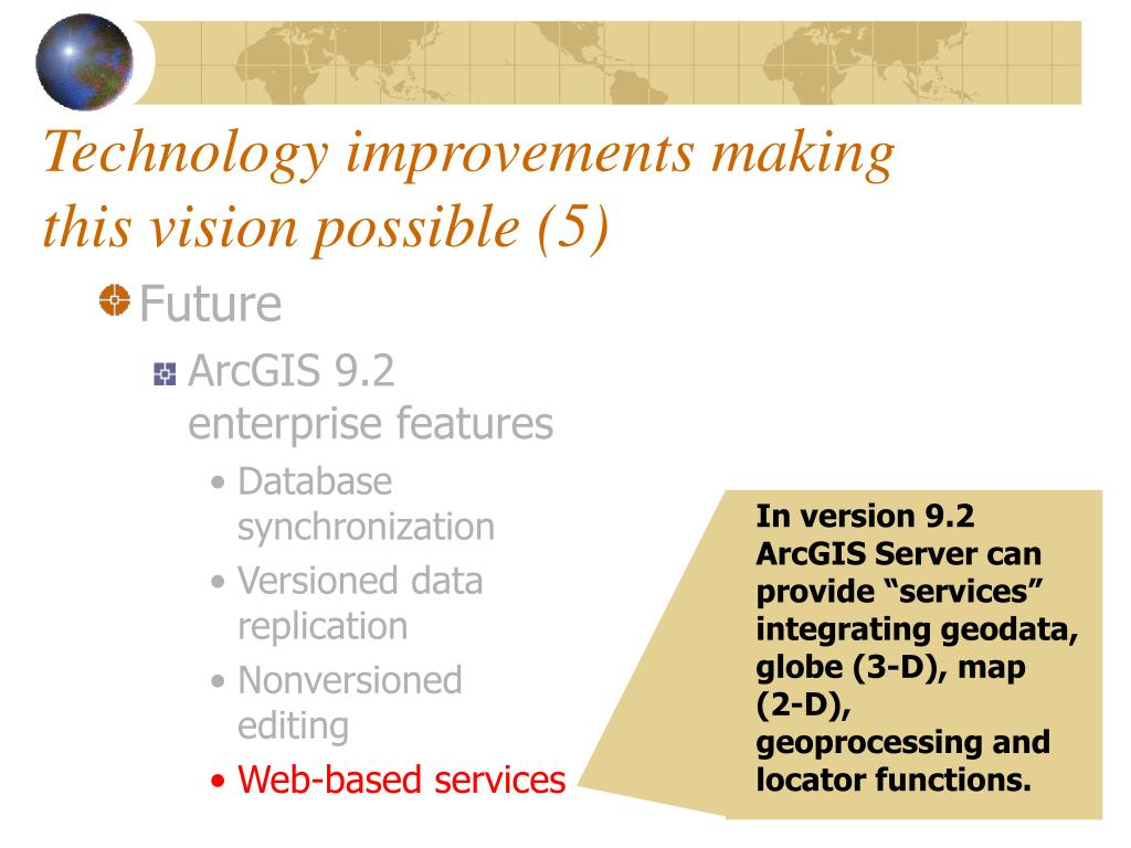 Technology improvements making this vision possible (5)