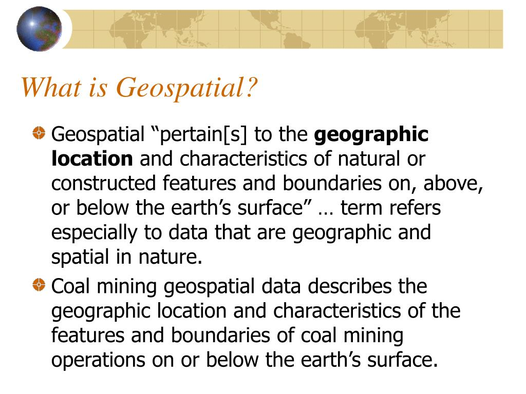 What is Geospatial?