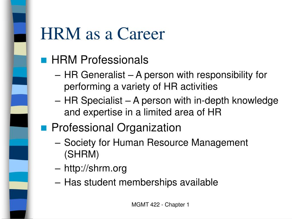 HRM as a Career
