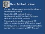 about michael jackson