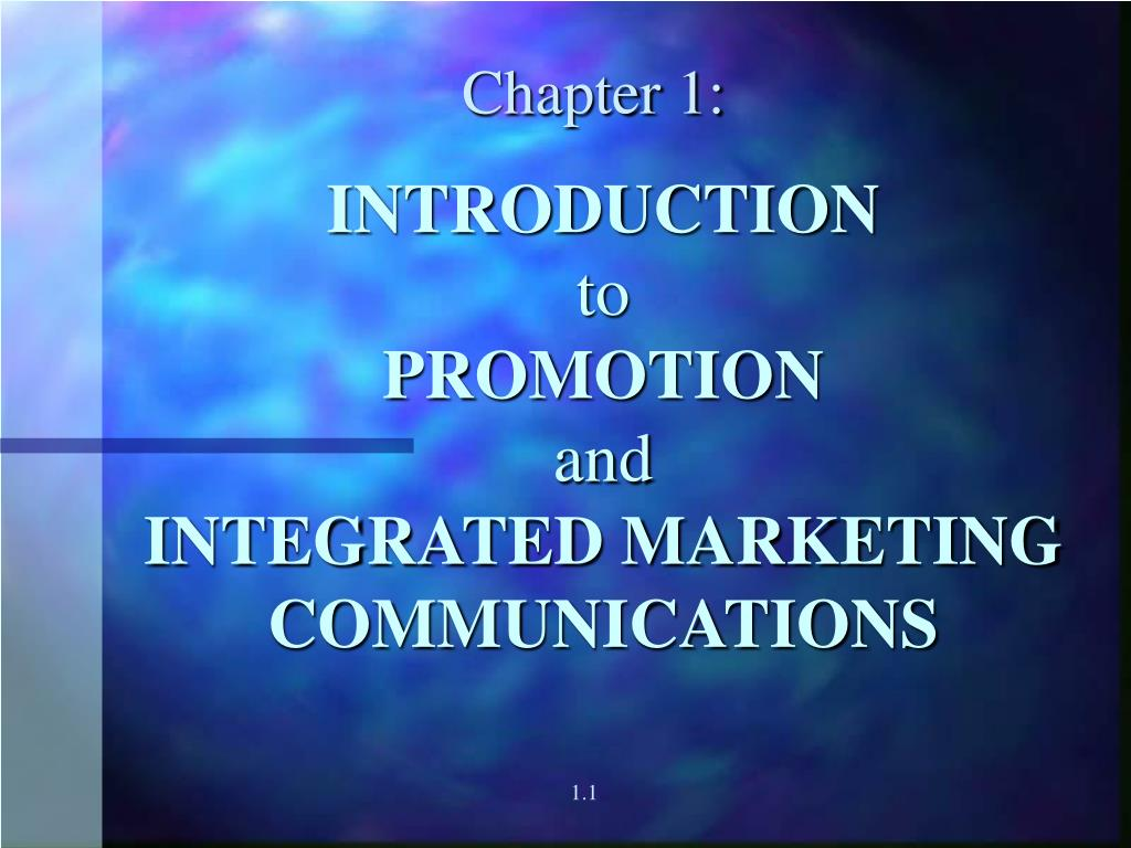 introduction to promotion and integrated marketing communications l.