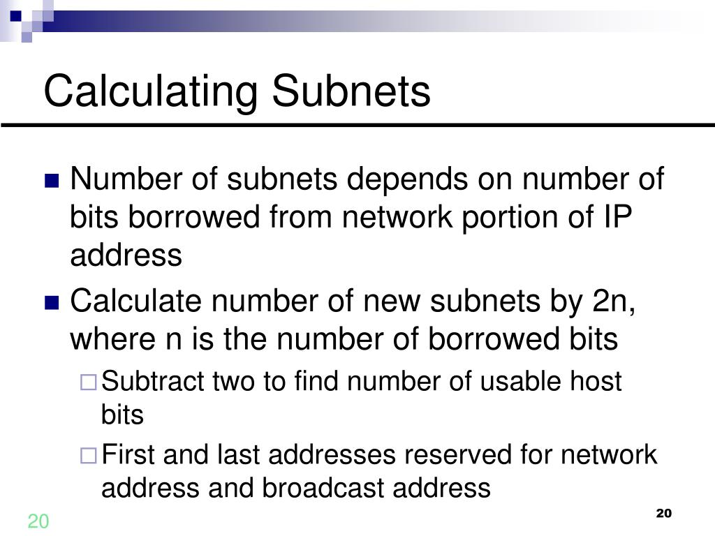 Calculating Subnets
