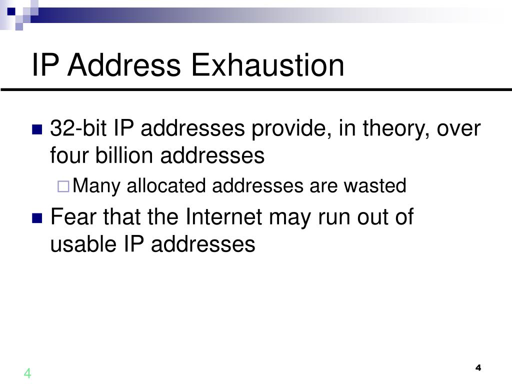IP Address Exhaustion