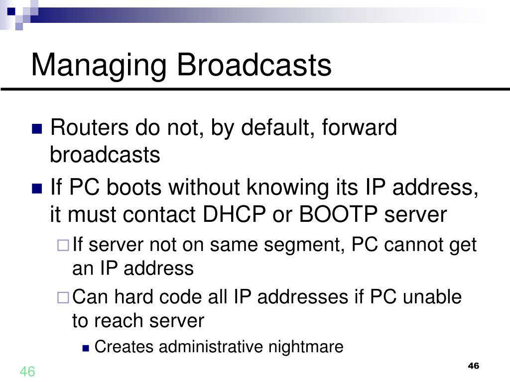 Managing Broadcasts