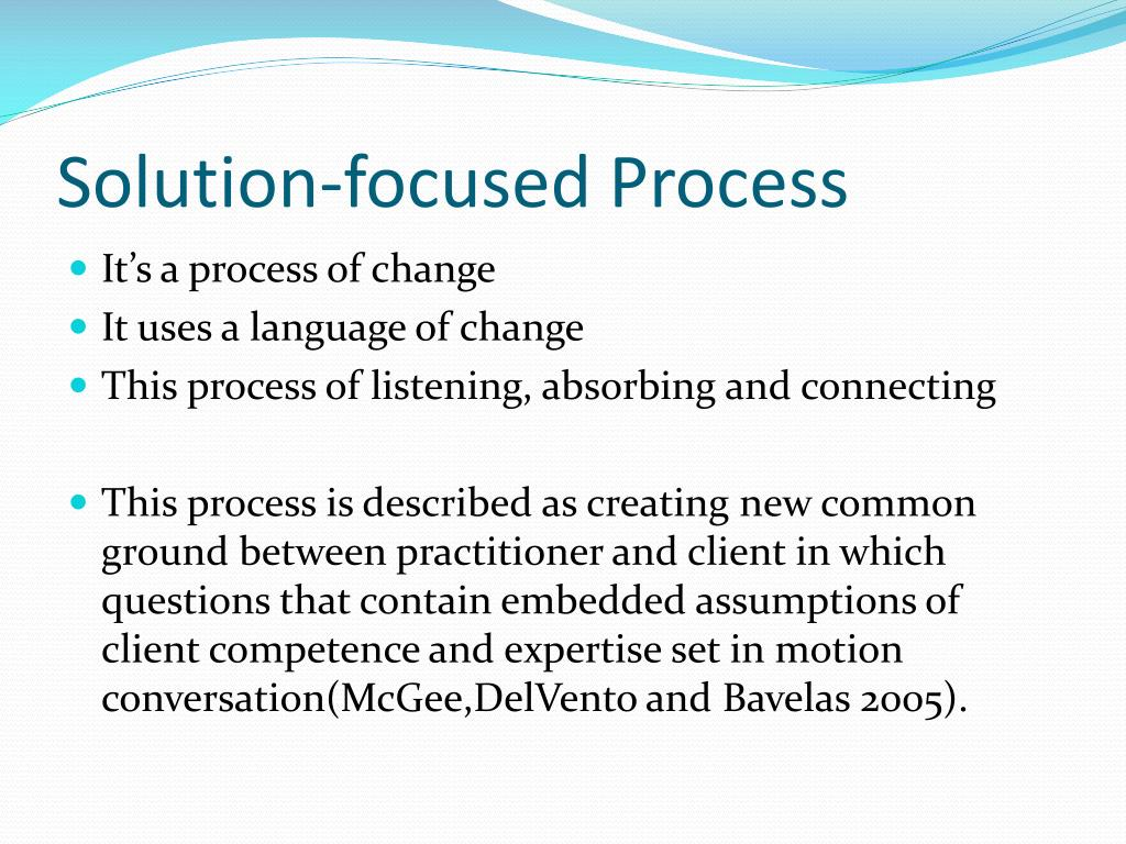 Solution-focused Process