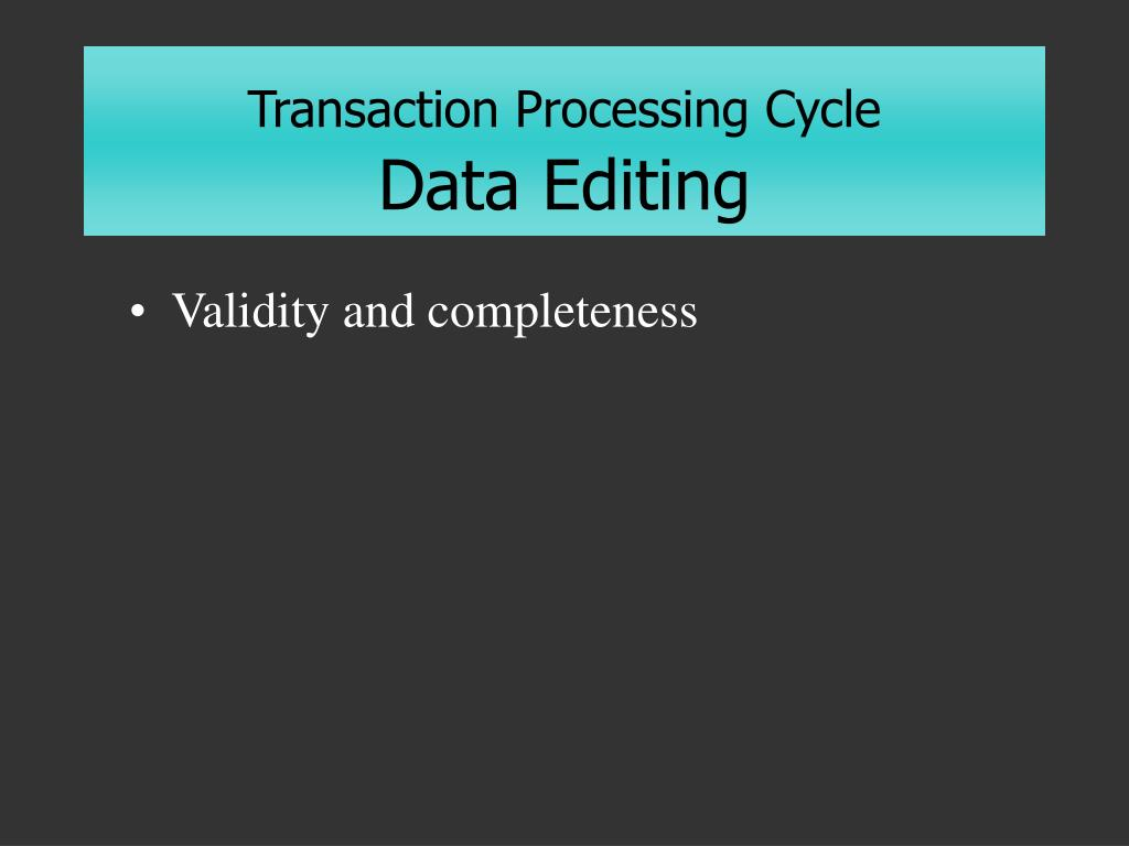 Transaction Processing Cycle