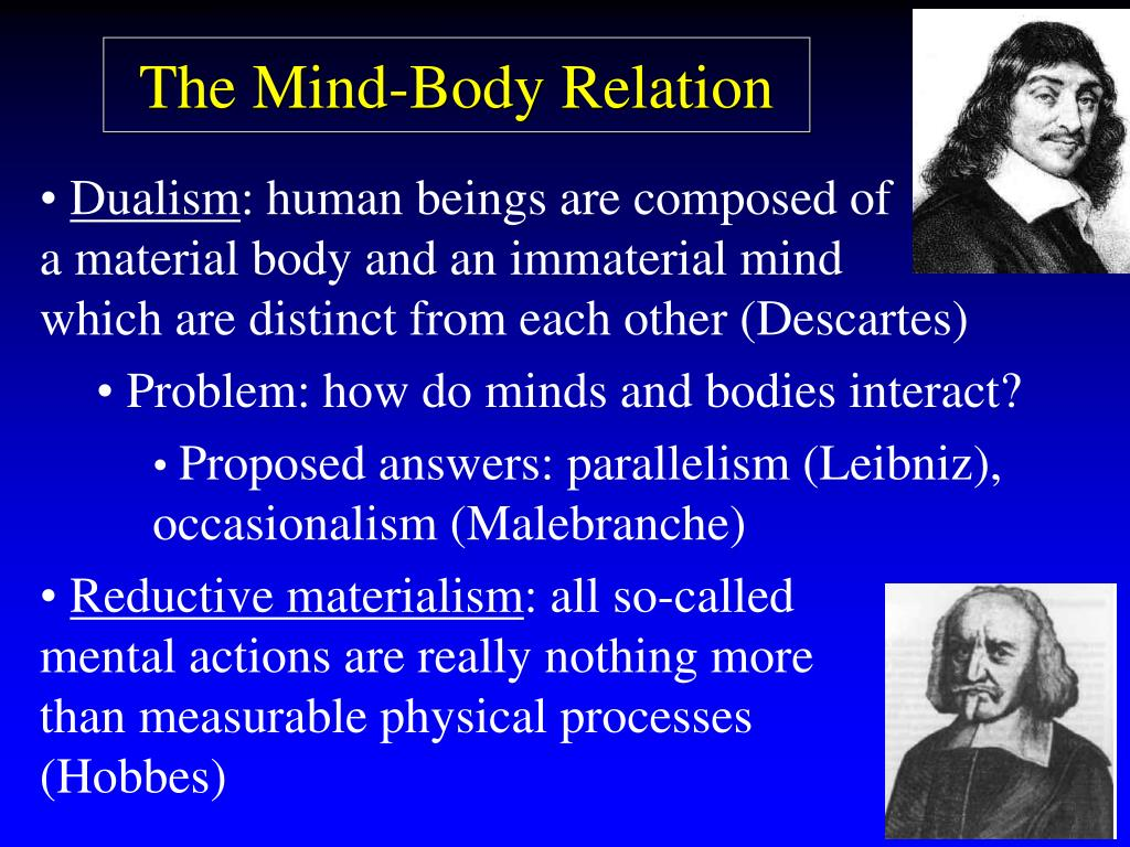 The Mind-Body Relation
