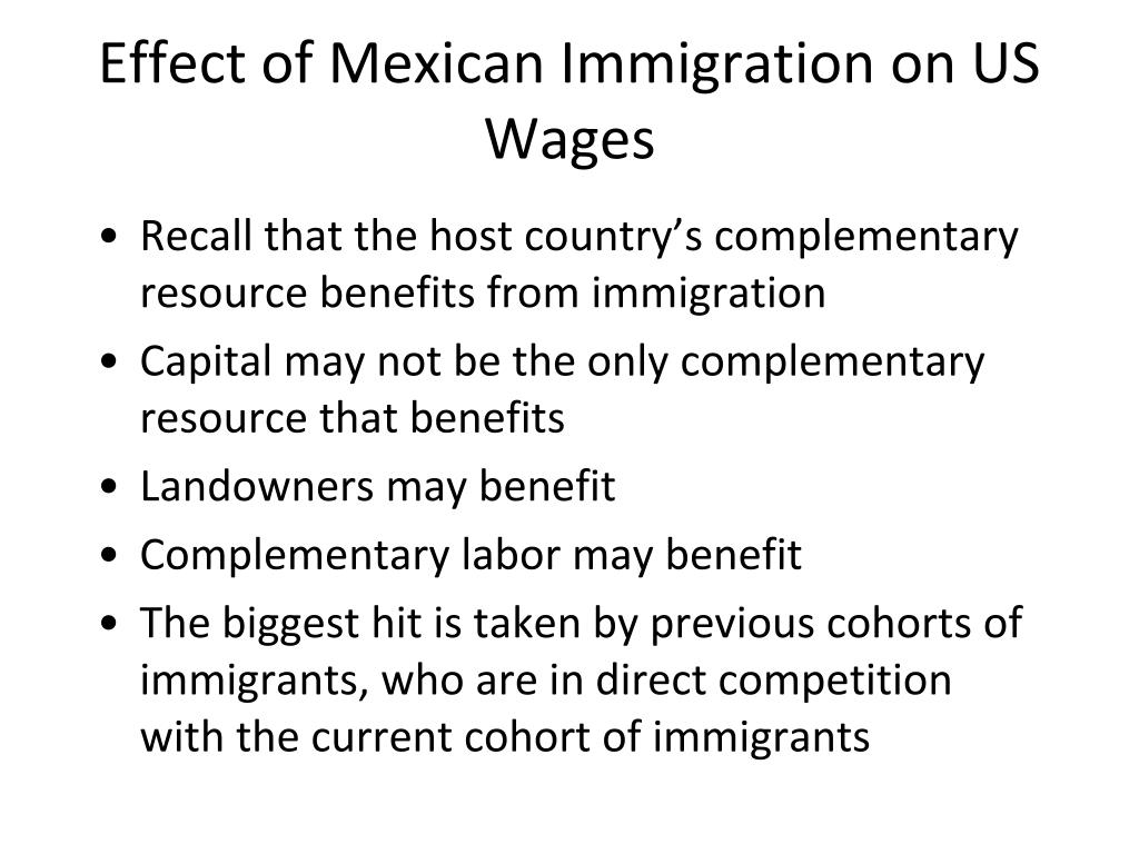 Effect of Mexican Immigration on US Wages