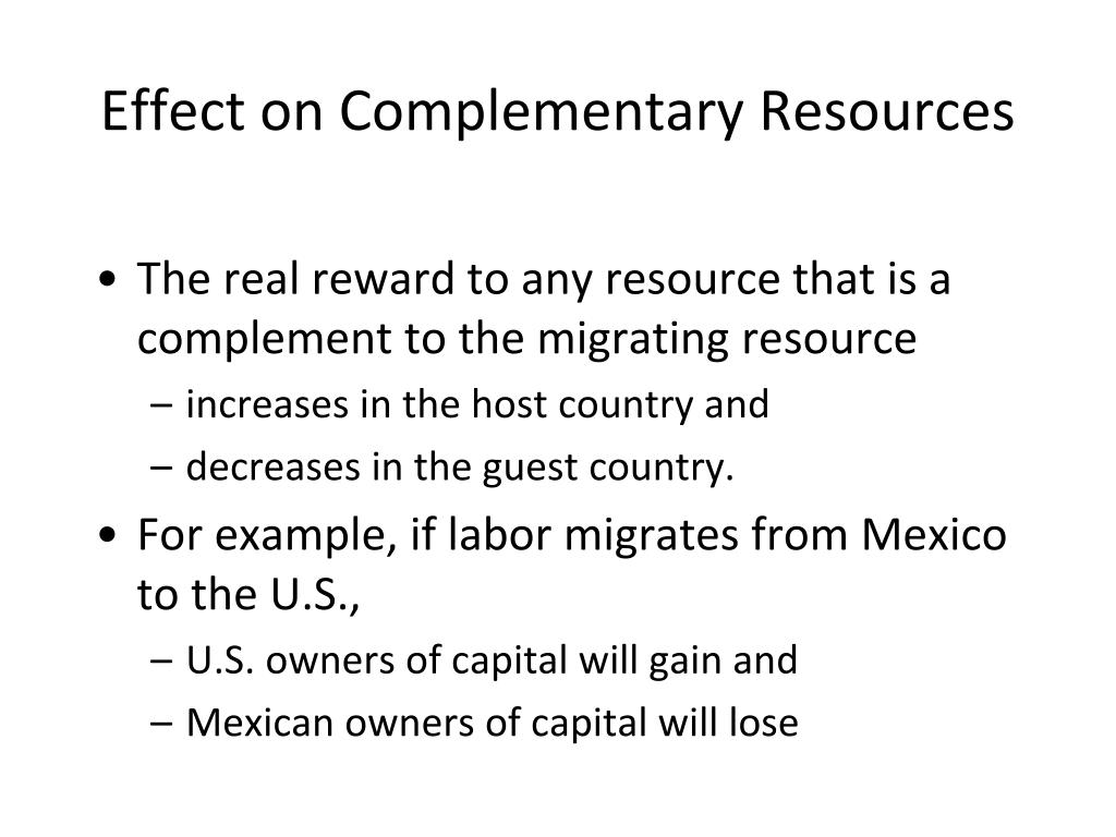 Effect on Complementary Resources