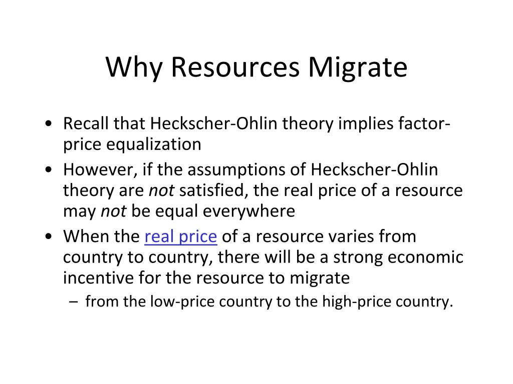 Why Resources Migrate