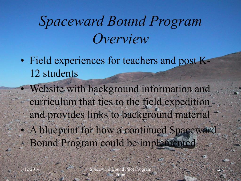 Spaceward Bound Program Overview