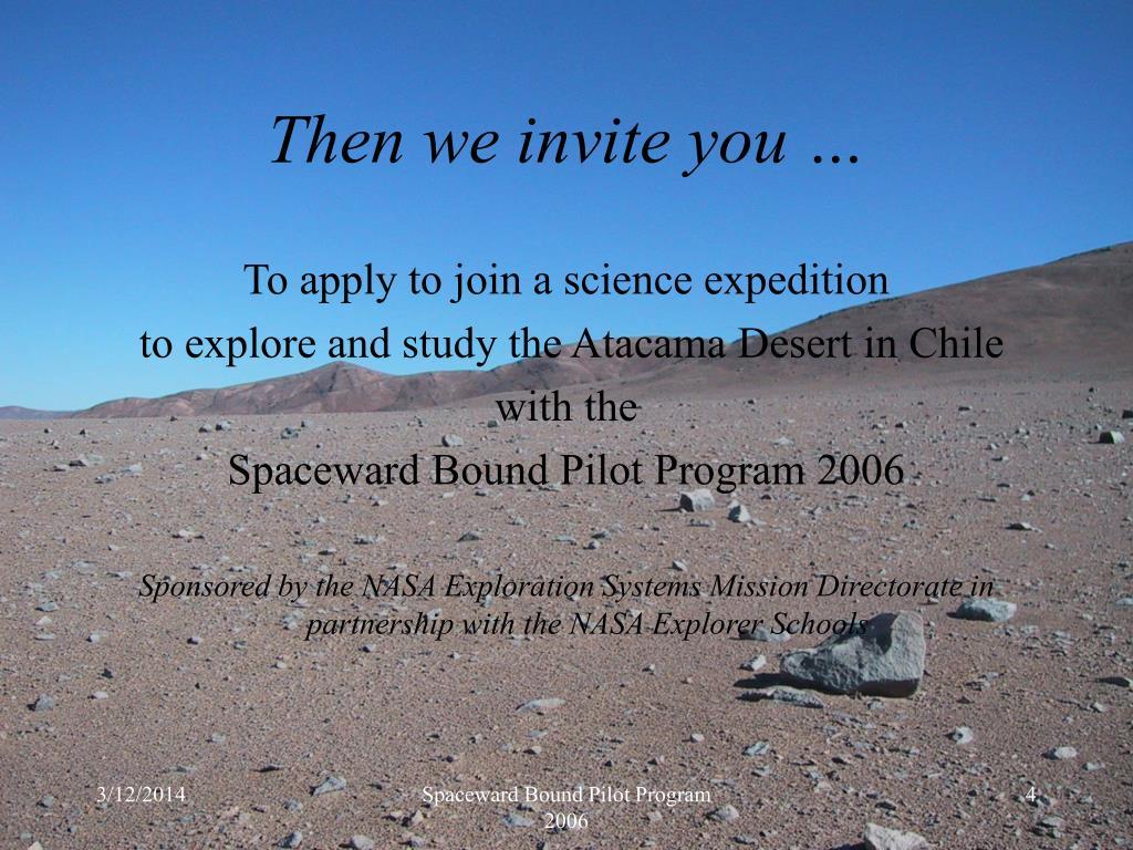 Then we invite you …