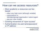 how can we access resources