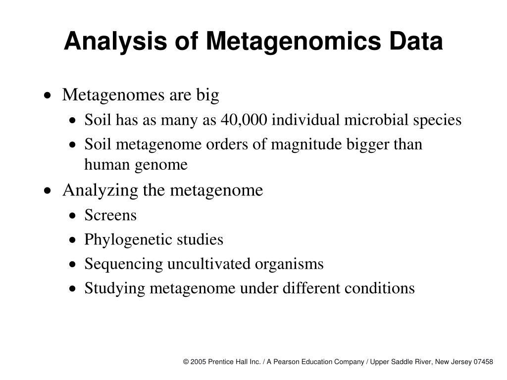 Analysis of Metagenomics Data