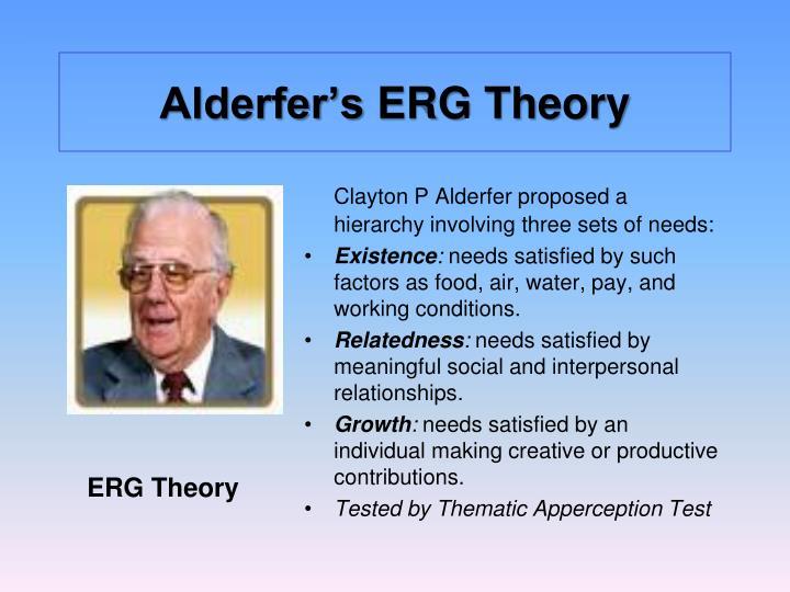 Alderfer s erg theory