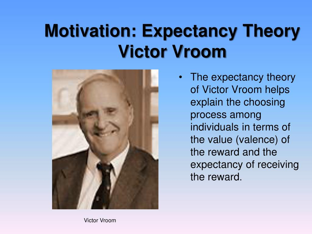 Motivation: Expectancy Theory  Victor Vroom
