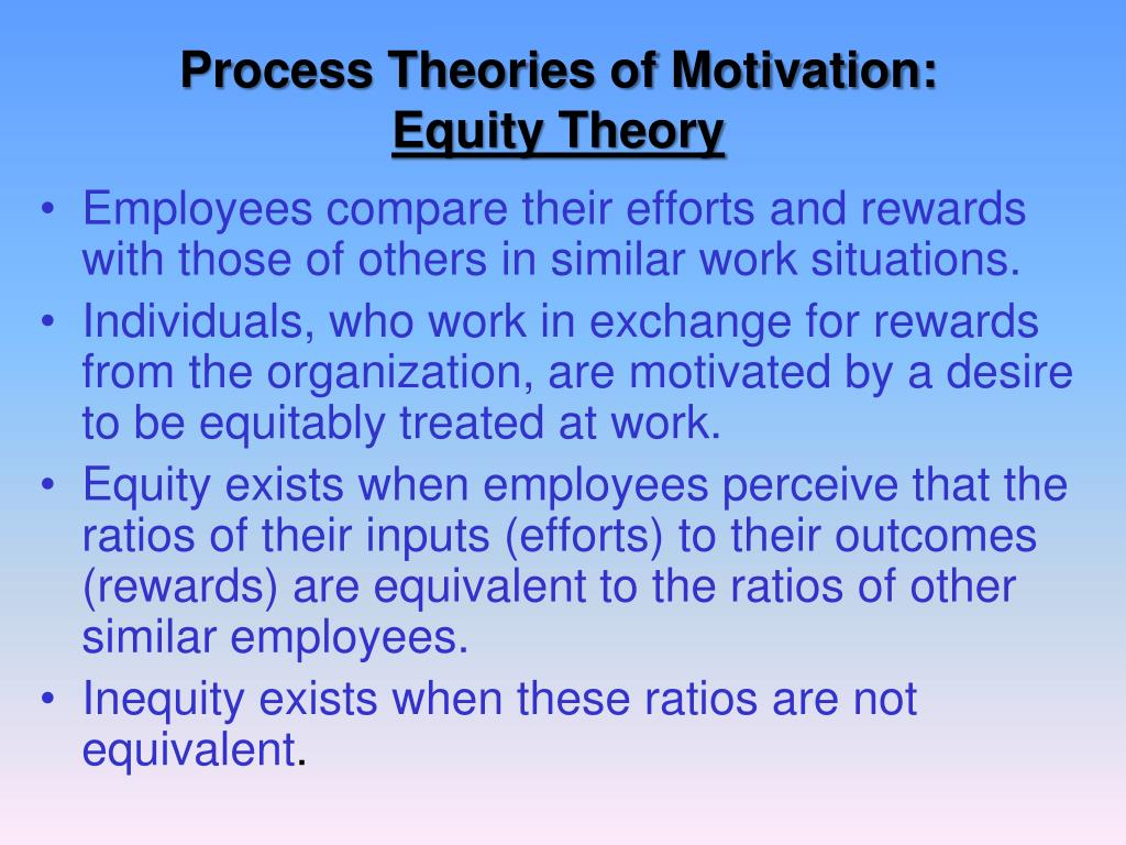 Process Theories of Motivation: