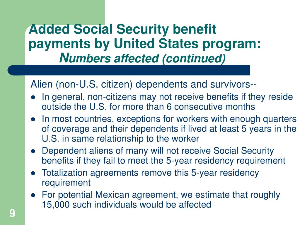 Added Social Security benefit payments by United States program: