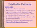 data quality calibration1