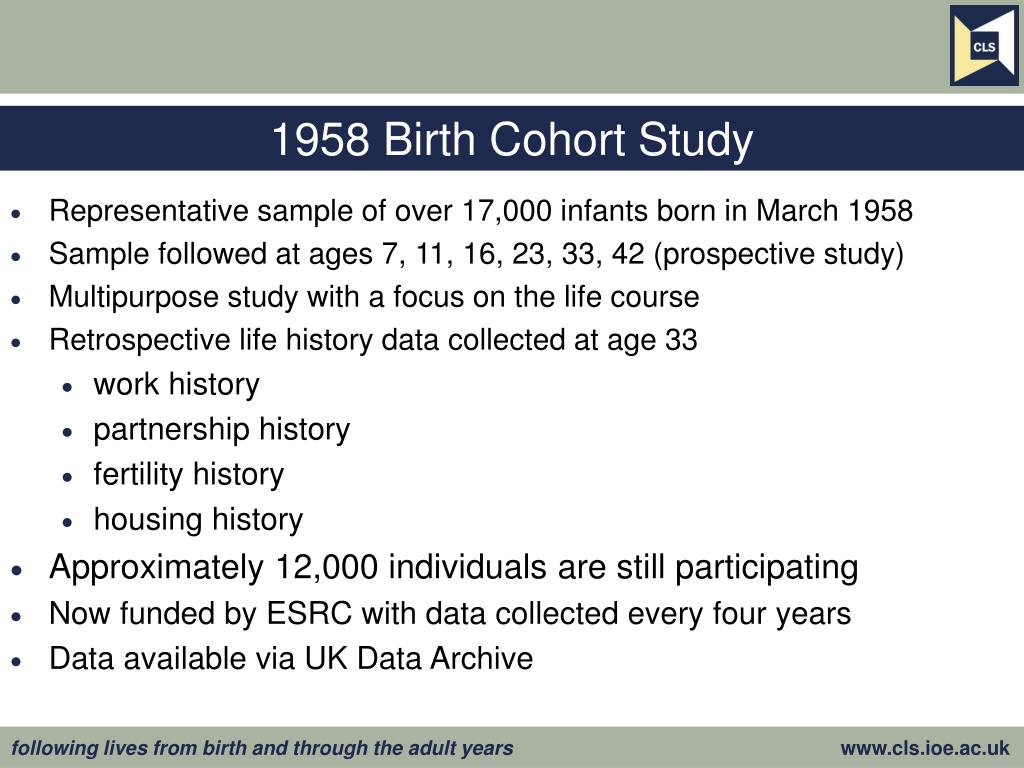 1958 Birth Cohort Study