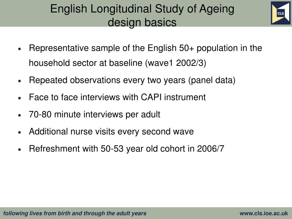 English Longitudinal Study of Ageing