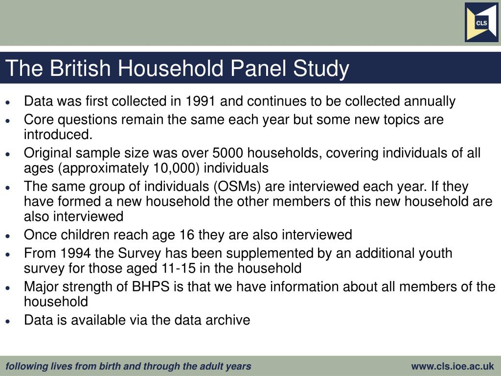 The British Household Panel Study